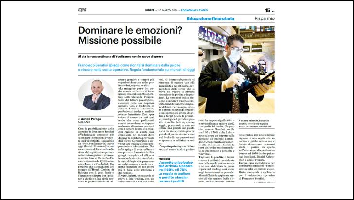 Intervista del Quotidiano Nazionale a Francesco Serafini CEO & Founder FINTECHSI
